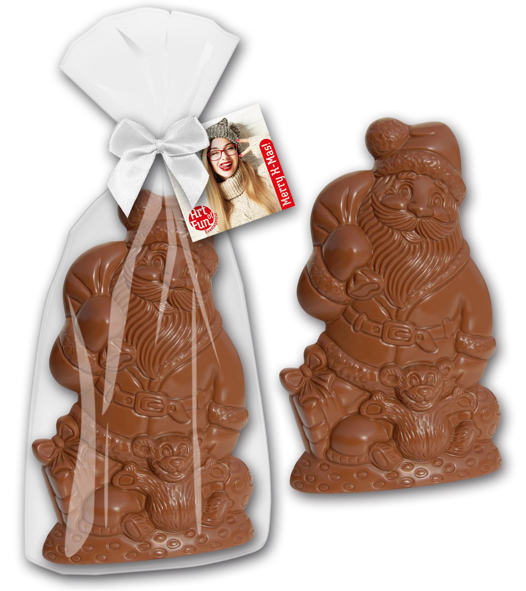 Weihnachtsmann mit Bär