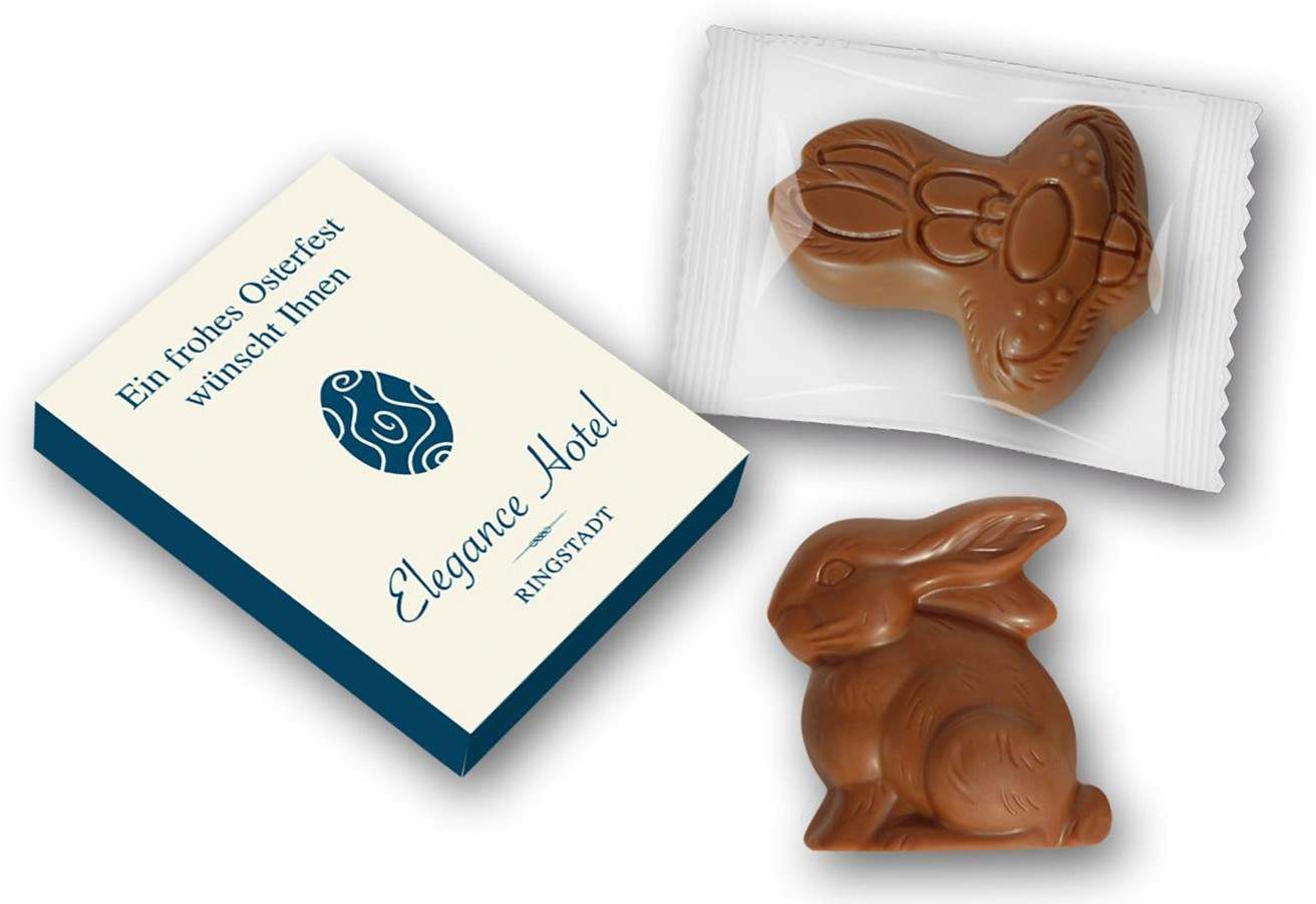 Osterfiguren im Schmuck-Karton