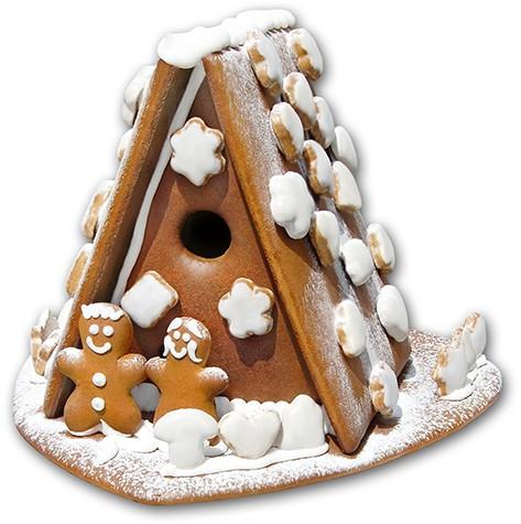 Lebkuchenhaus mit Lebkuchenpaar
