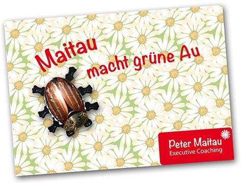 Grußkarte mit Schokomaikäfer