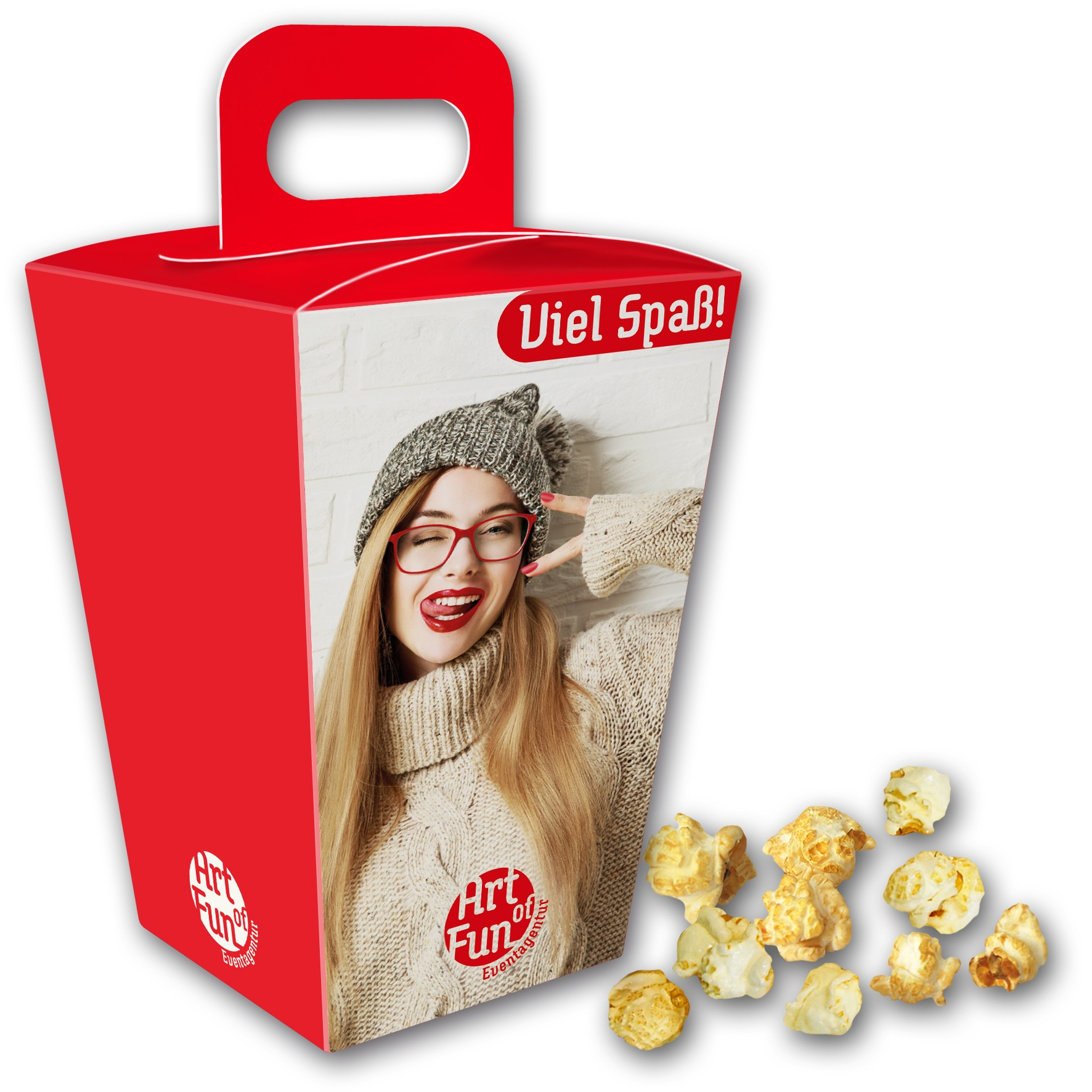 Popcorn im Schmuckkarton