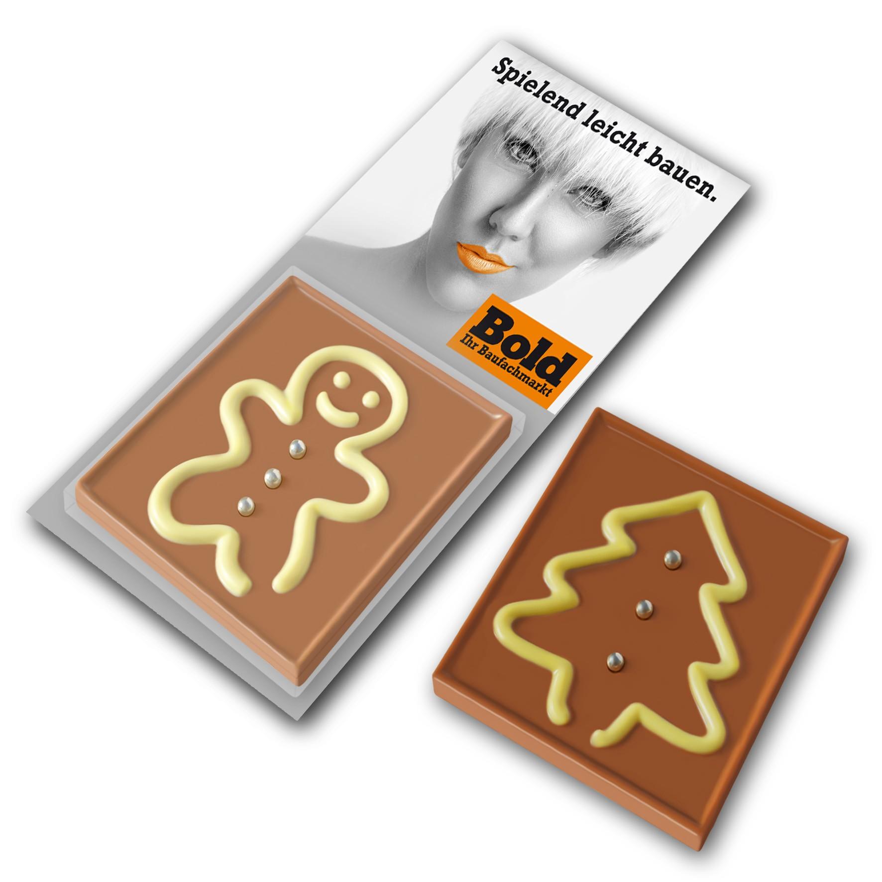 Schokoladenspiel Mann und Baum