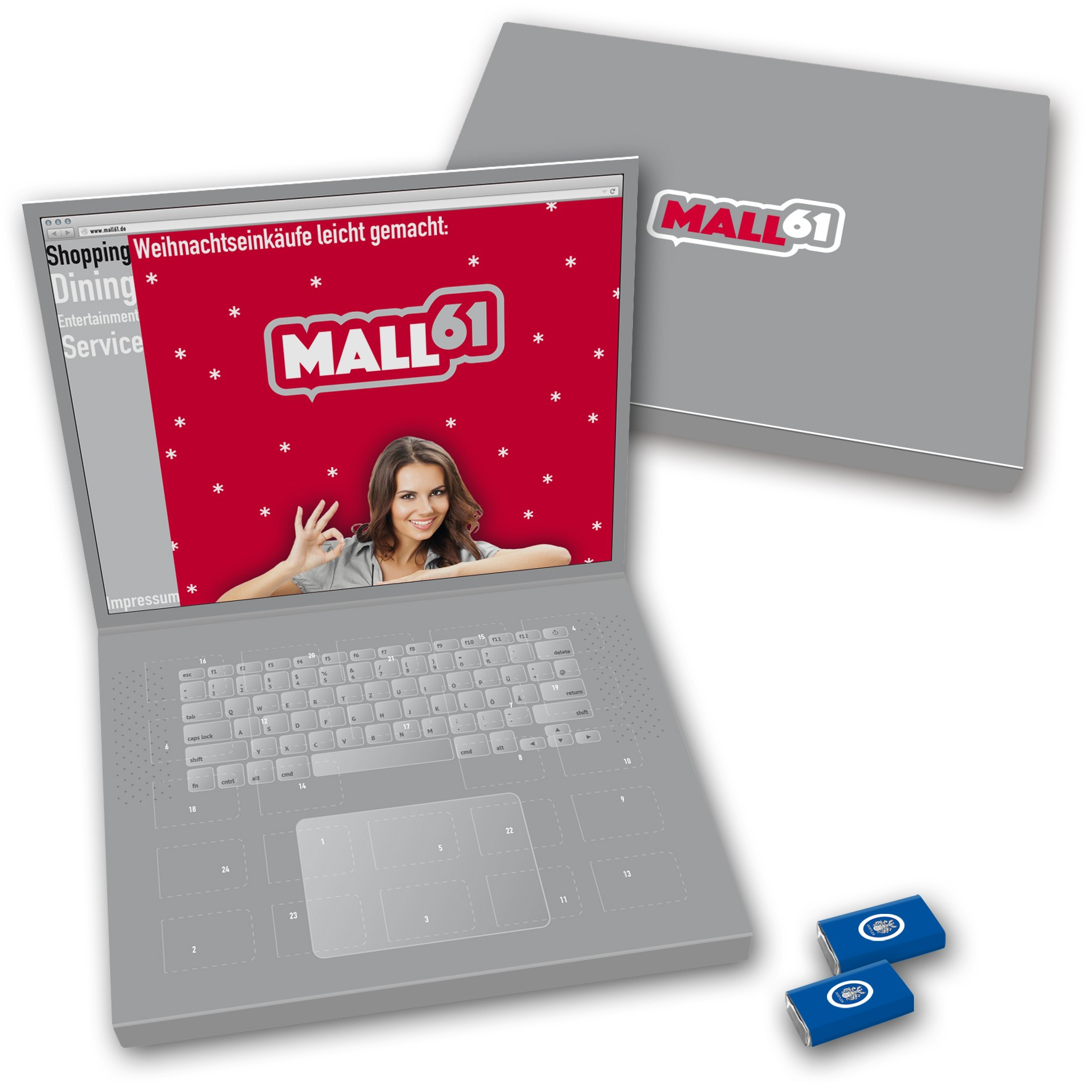 Dostler Adventskalender Laptop Großbriefformat