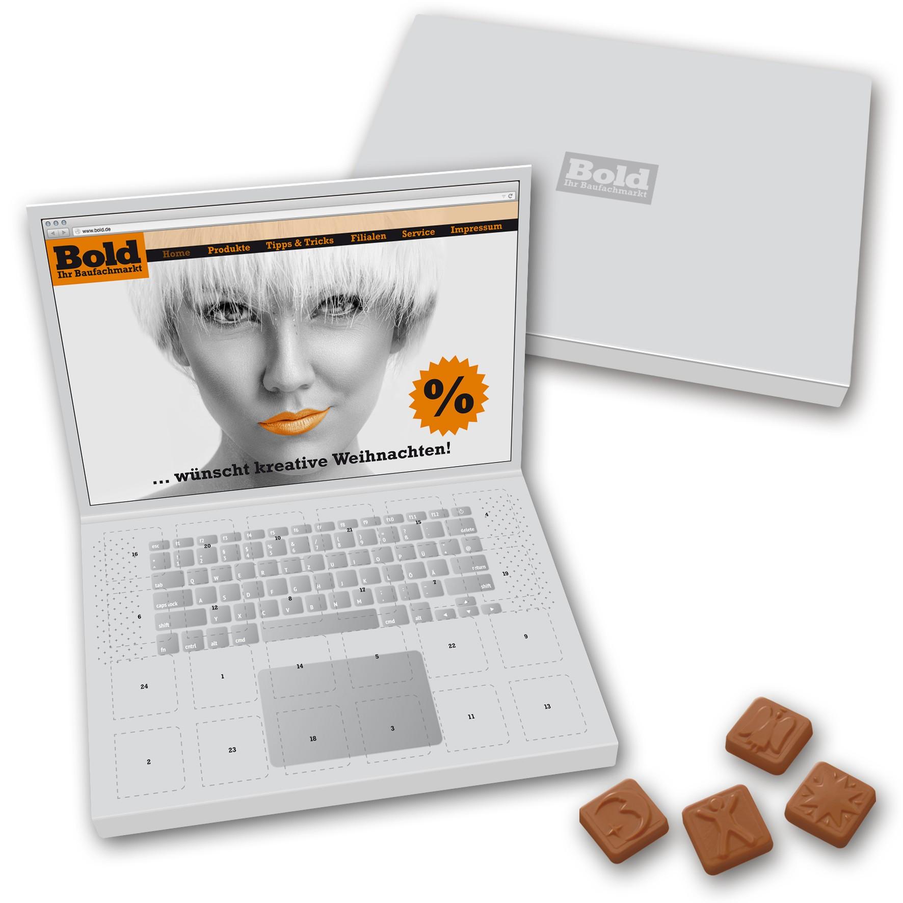 Adventskalender Laptop Großbriefformat