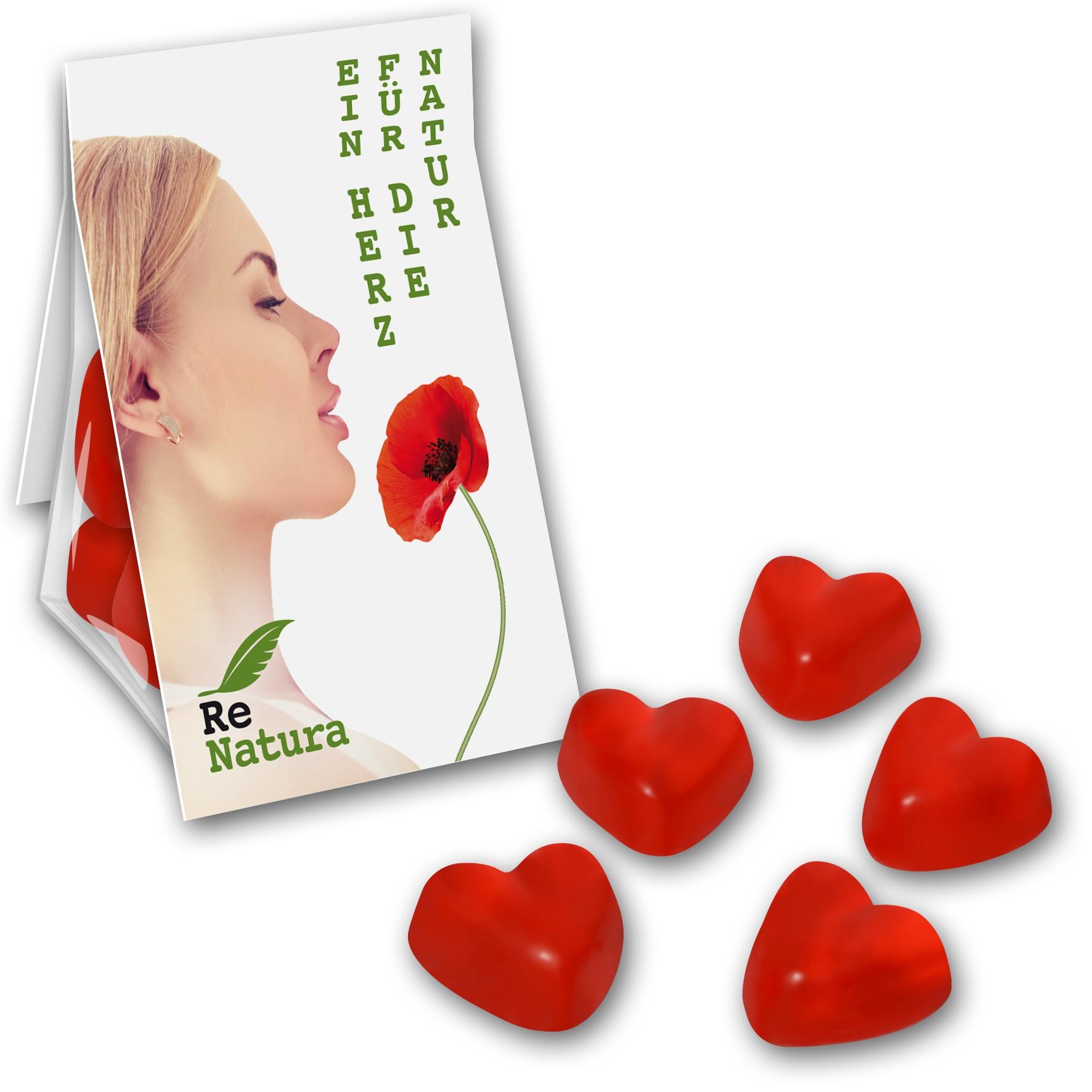 Promobag Herzen Fruchtgummi