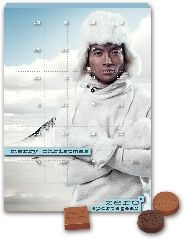 Adventskalender Prägung Schokolade