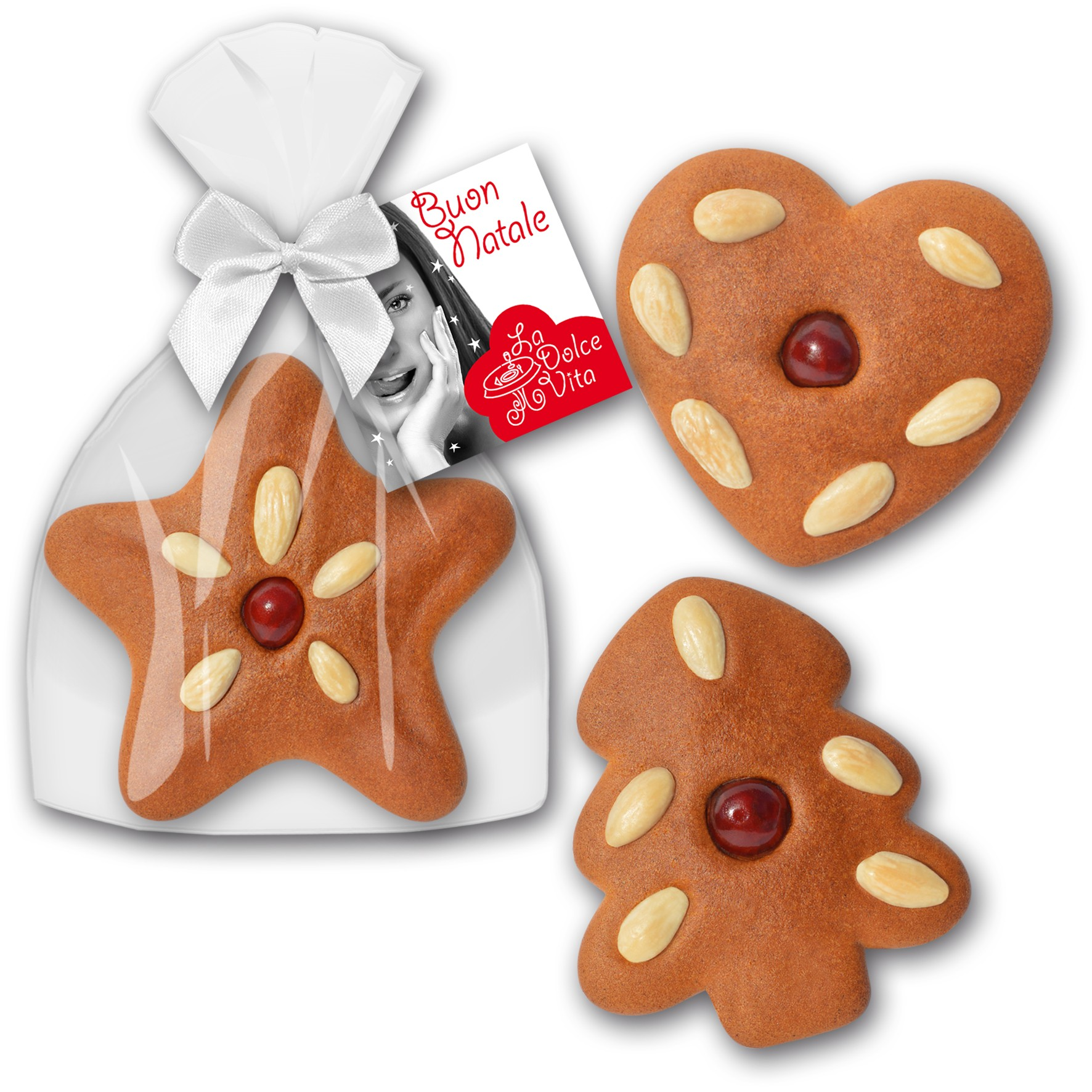 Weihnachtslebkuchen mit Mandeln