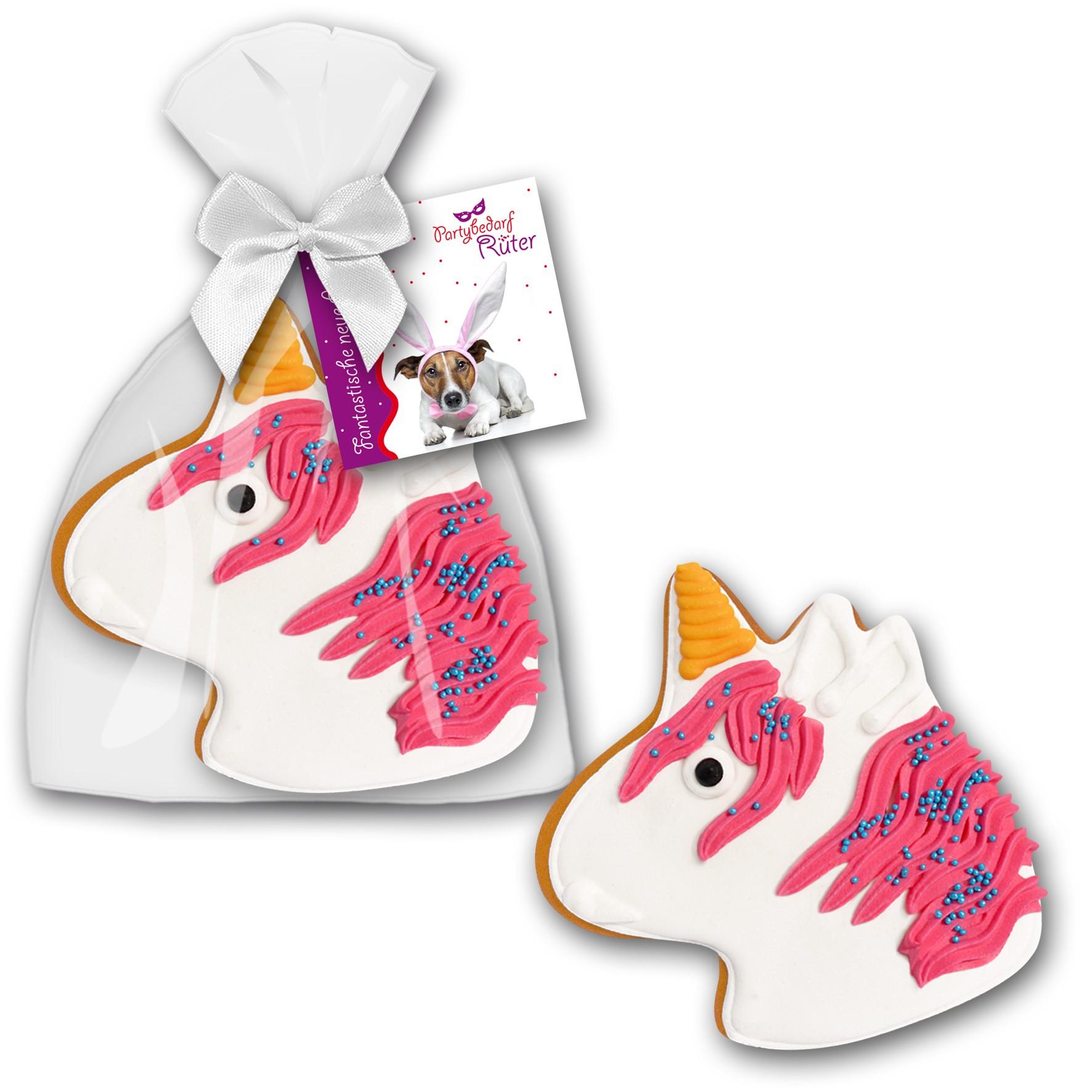 Einhorn Lebkuchen mit Logo
