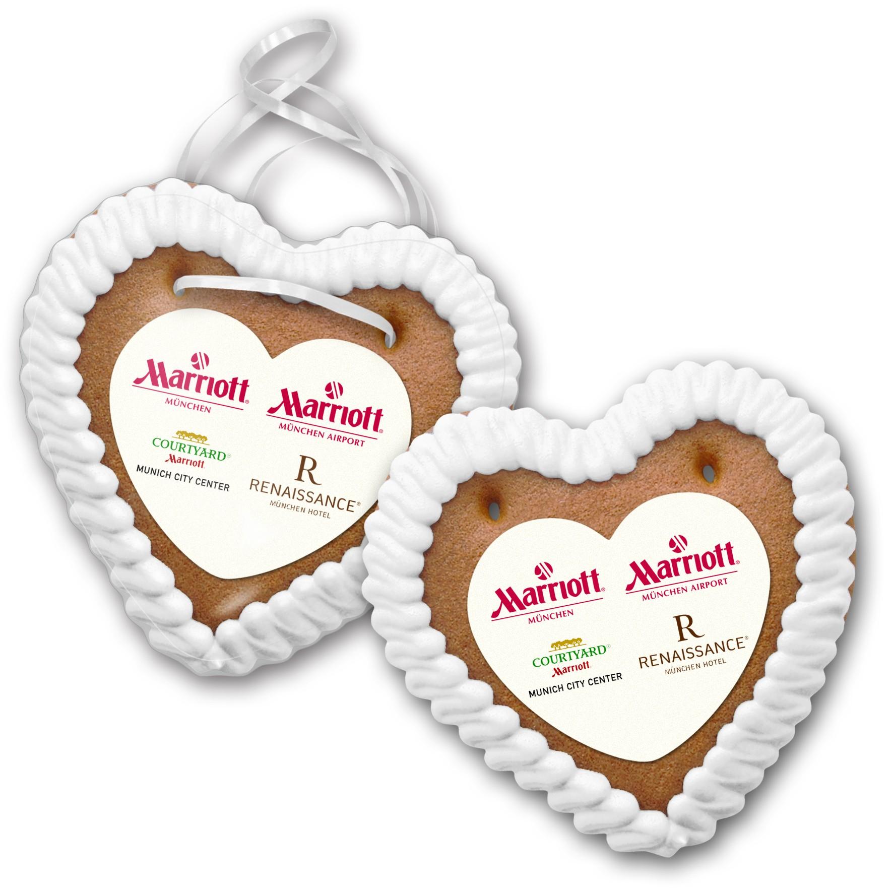 Lebkuchenherz Größe 3 mit Herzpapieraufleger