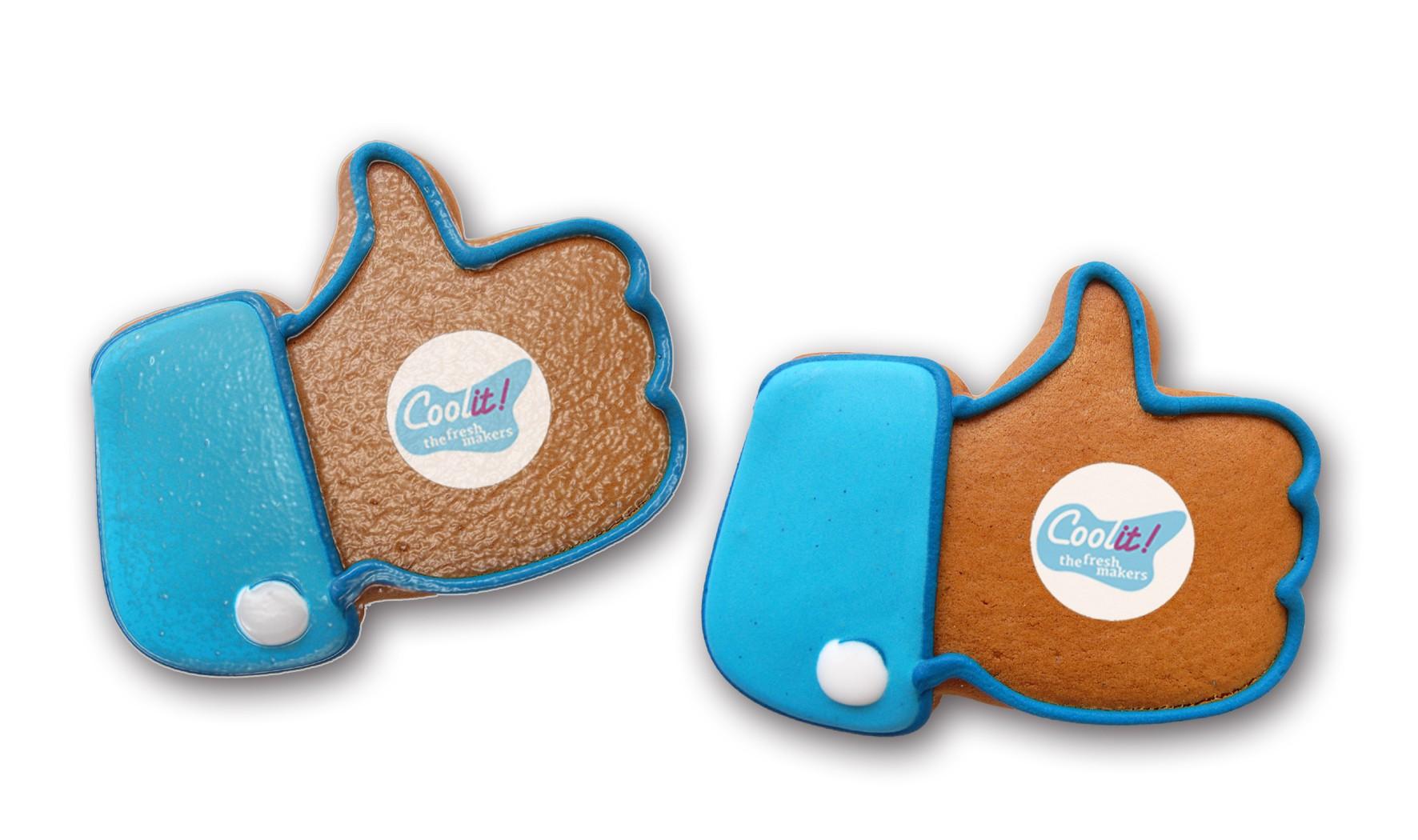 Daumen hoch - Lebkuchen mit Logo groß