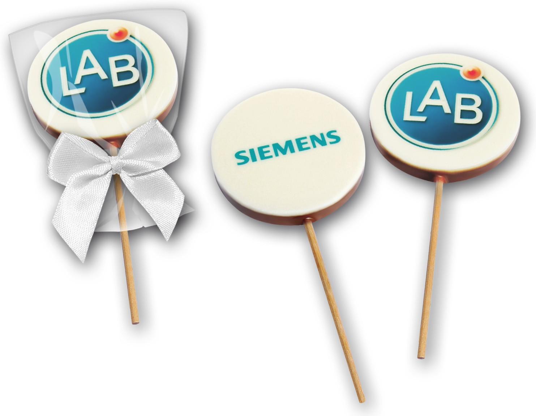 Schokoladen - Lolly mit Logo