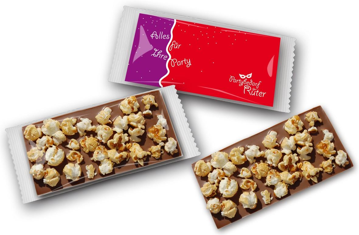 Schokoladentafel Popcorn