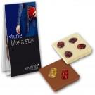 Promocard Schokolade mit Einstreuung