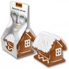 Lebkuchenhaus mit Logobanderole