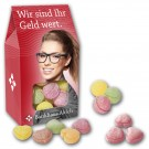 Bonbons in Sichtfenterkarton