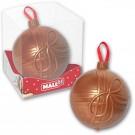 Schokoladenchristbaumkugel mit Logo