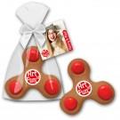 Fidget Spinner Cookie mit Logo