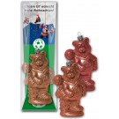Schoko - Christbaumkugel Fußballbär