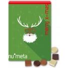 Adventskalender mit geprägter Schokolade