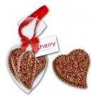 Schokoladenherz groß mit Rosenblüten