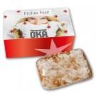 Lebkuchen - Schnitten in bedrucktem Karton